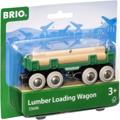vagón troncos de madera