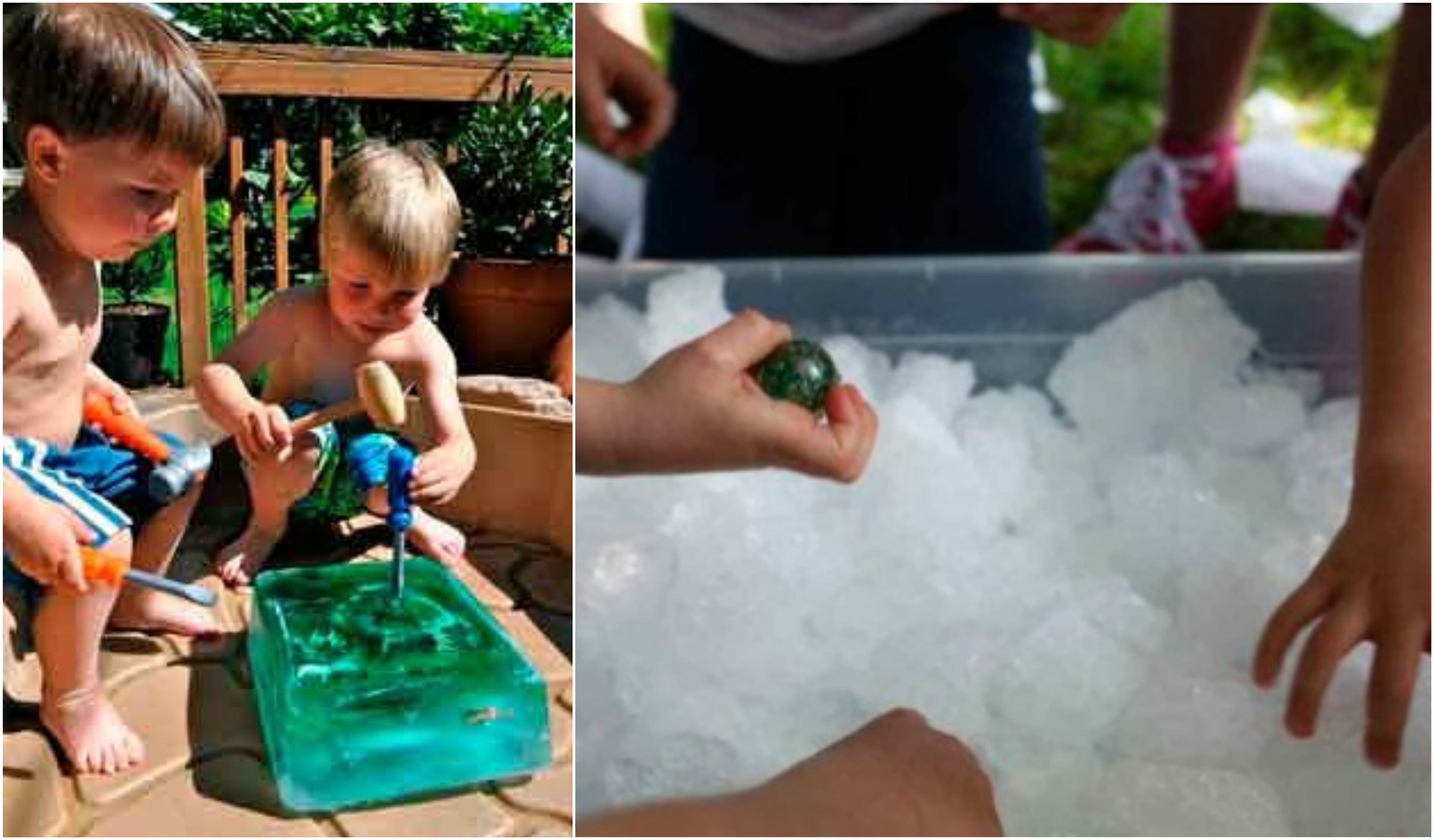 actividades para jugar con hielo