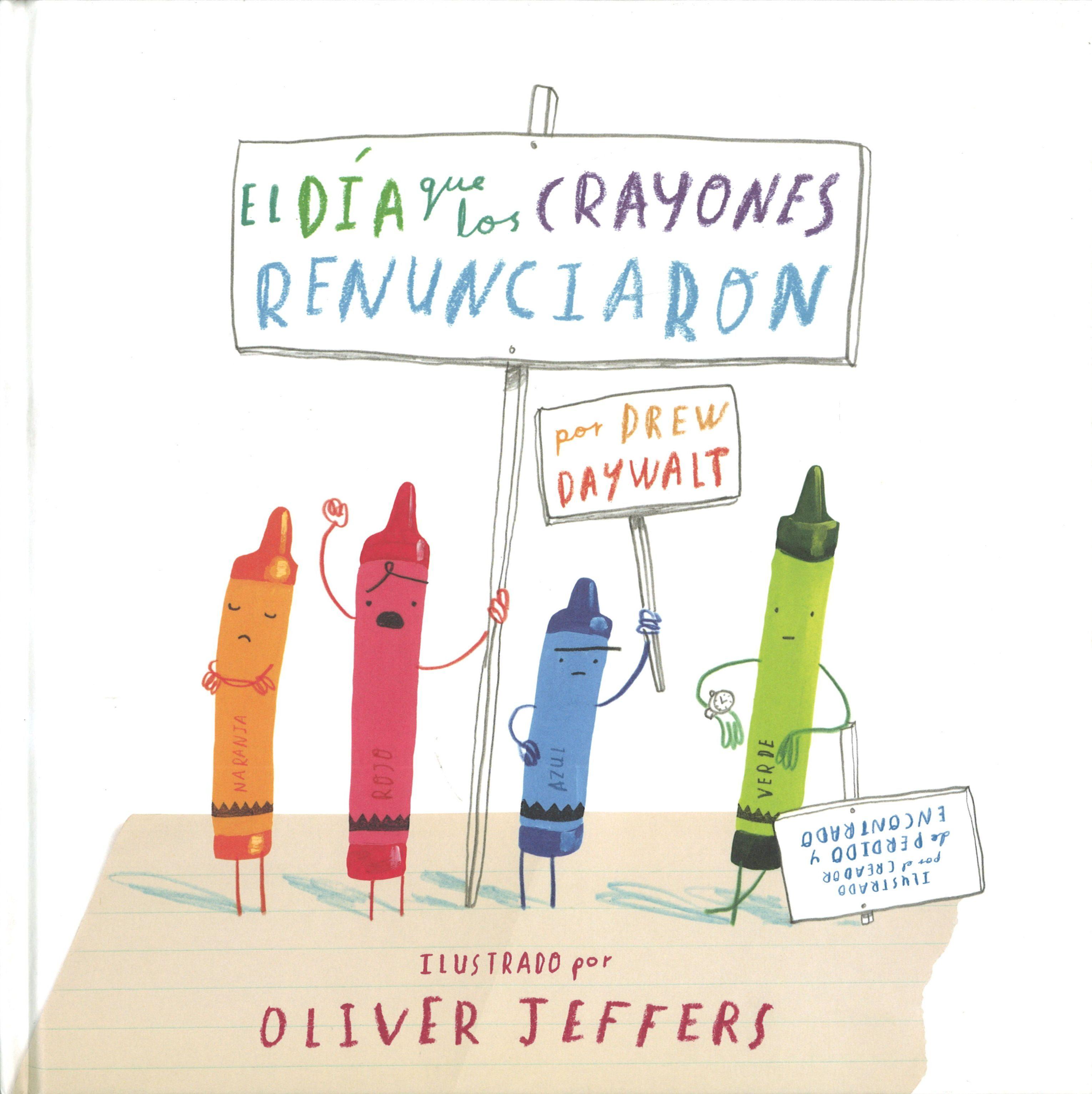 El día que los crayones renunciaron, un libro sobre tópicos de colores
