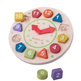 reloj infantil de madera