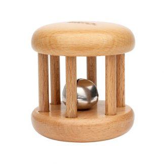 sonajero con cascabel madera