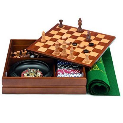 caja multijuegos marquetería