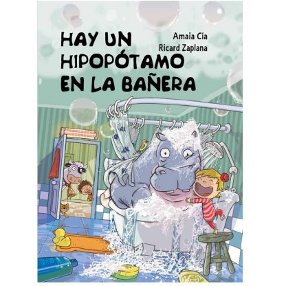 hay un hipopotamo en la bañera