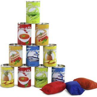 volcar latas alimentos